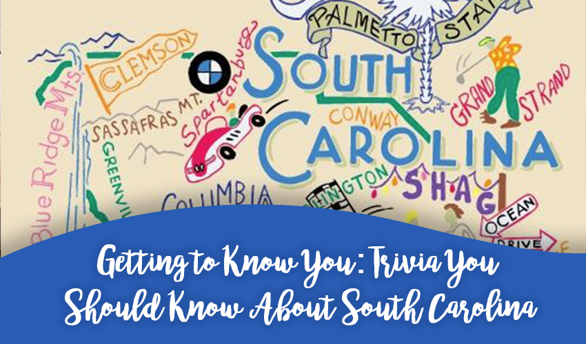 Getting to Know You: Trivia You Should Know About South Carolina